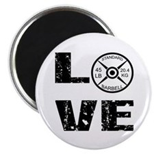 Love Lifting Weights Magnet