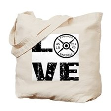 Love Lifting Weights Tote Bag
