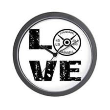 Love Lifting Weights Wall Clock