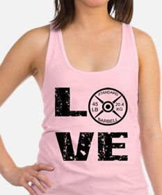 Love Lifting Weights Racerback Tank Top