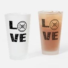 Love Lifting Weights Drinking Glass