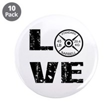 "Love Lifting Weights 3.5"" Button (10 pack)"