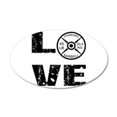 Love Lifting Weights Wall Decal