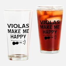 Violas musical instrument designs Drinking Glass