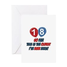 Gifts for the individual turning 18 Greeting Card