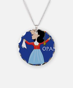 Greek Lady Dancing Necklace