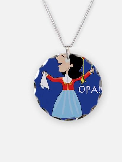 Greek Lady Dancing Necklace