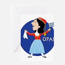 Greek Lady Dancing Greeting Card