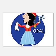 Greek Lady Dancing Postcards (Package of 8)