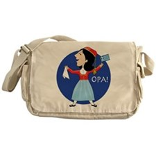 Greek Lady Dancing Messenger Bag