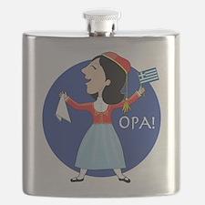 Greek Lady Dancing Flask