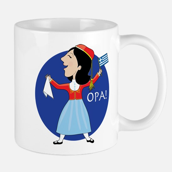Greek Lady Dancing Mug
