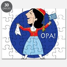 Greek Lady Dancing Puzzle