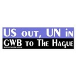 US out, UN in (Bumper Sticker)