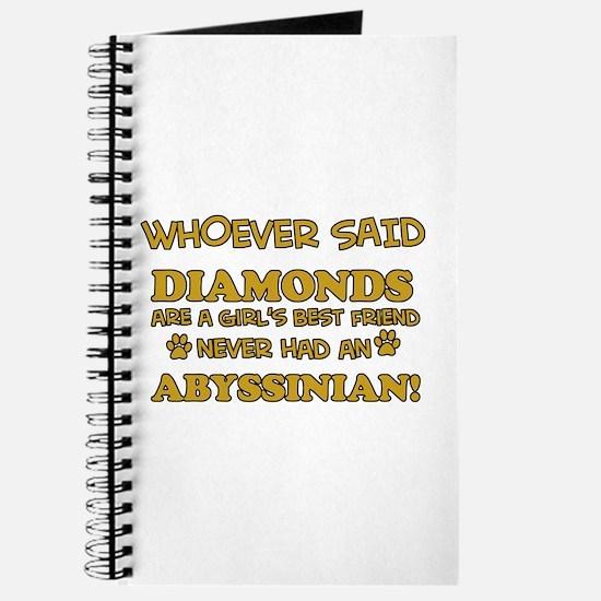 Abyssinian cat vector designs Journal