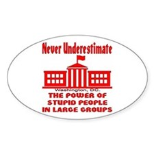 Stupid People Large Groups Decal