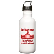 Stupid People Large Groups Water Bottle