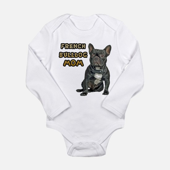 French Bulldog Mom Long Sleeve Infant Bodysuit