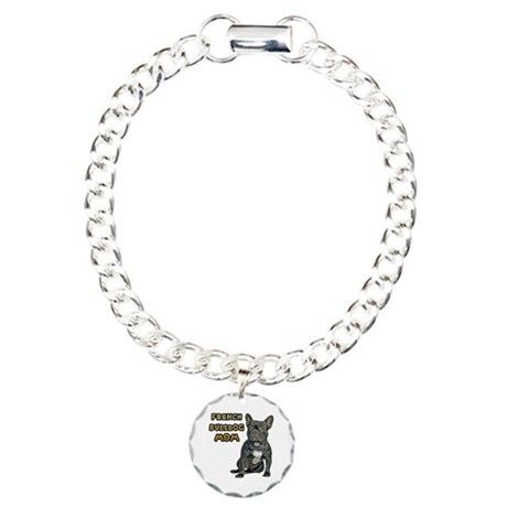 French Bulldog Mom Charm Bracelet, One Charm
