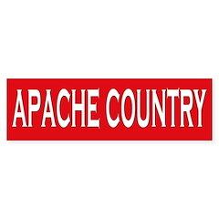 Apache Country Bumper Bumper Sticker