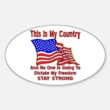 Dictate My Freedom Decal