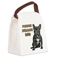 French Bulldog Dad Canvas Lunch Bag