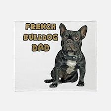 French Bulldog Dad Throw Blanket
