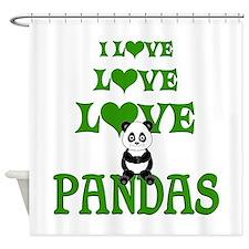 Love Love Pandas Shower Curtain