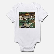 Keep Calm and Fly Fish Infant Bodysuit