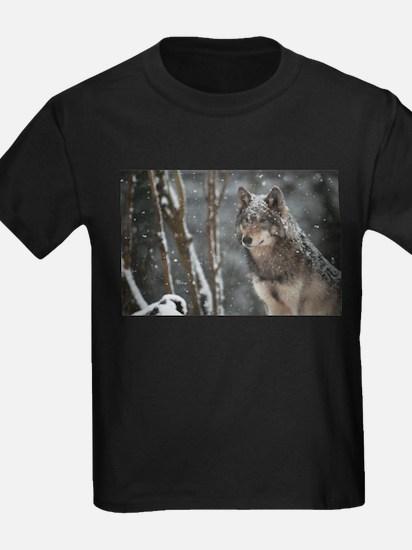 Snowy Lone Wolf T-Shirt