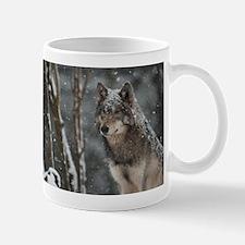 Snowy Lone Wolf Mug