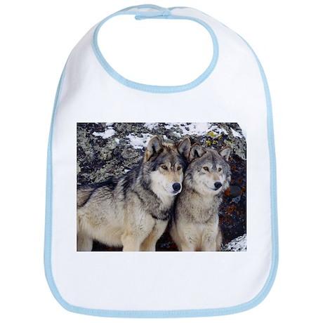 Wolf Couple Bib