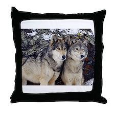 Wolf Couple Throw Pillow