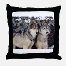 Wolf Couple Throw Pillow