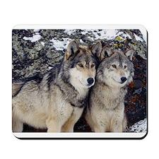 Wolf Couple Mousepad