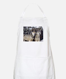 Wolf Couple Apron