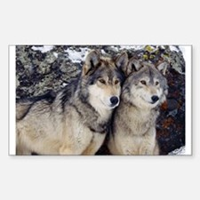Wolf Couple Decal