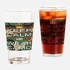 Keep Calm and Wear Camo Drinking Glass