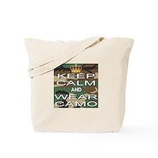 Keep Calm and Wear Camo Tote Bag
