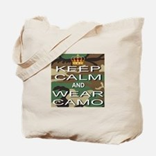 Keep Calm and Wear Camo Tote Bag