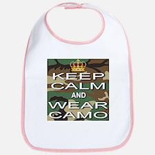 Keep Calm and Wear Camo Bib