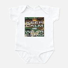 Keep Calm and Wear Camo Infant Bodysuit