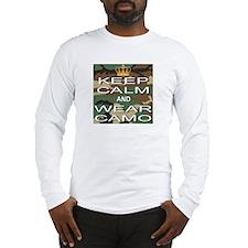 Keep Calm and Wear Camo Long Sleeve T-Shirt