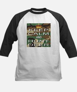 Keep Calm and Hunt Deer Kids Baseball Jersey