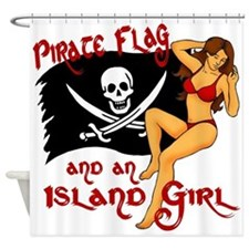 pirate girl Shower Curtain