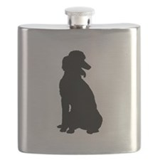 Poodle Silhouette Flask