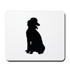 Poodle Silhouette Mousepad