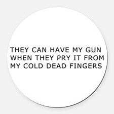 Cold Dead Fingers Round Car Magnet