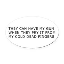 Cold Dead Fingers Oval Car Magnet