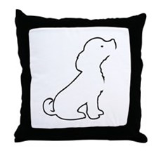 Puppy Lines Throw Pillow